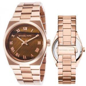 Michael Kors Women Channing Rose gold Watch